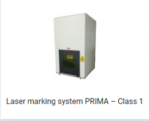 Laser marking system PRIMA – Class 1